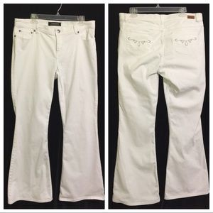 London Jeans Womens Sz 14 Flare Jeans Cotton Blend